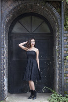 black DollsMaison dress - black cotton ankle H&M socks
