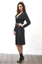 black DollsMaison dress - black cotton ankle Topshop socks