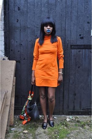 orange DollsMaison dress - DollsMaison scarf - black DollsMaison bag