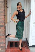 silk vintage DollsMaison vest - lace vintage DollsMaison skirt