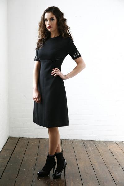 black DollsMaison dress - black cotton  lurex Primark socks