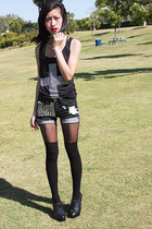 Topshop Chain Suspender Leggings leggings - Diy Studded & Spiked Shorts shorts -