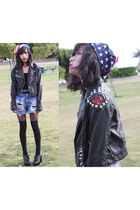 Diy Studded and Spiked Jacket jacket - chain leggings Topshop leggings - Won at