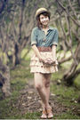 Brown-genevieve-gozum-hat-blue-giordano-blouse-pink-little-caviar-skirt-br