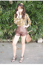 Brown-south-sartorial-shorts-green-posh-wardrobe-top-olive-green-lyn-heels