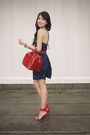 Navy-forever-21-dress-ruby-red-furla-bag-ruby-red-ferragamo-belt
