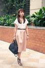 Brown-zara-shoes-dark-brown-marc-jacobs-bag-peach-river-island-skirt
