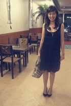 Topshop dress - Prima Donna shoes - Burberry Classic Nova Check accessories