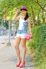 Hot-pink-kenzo-hat-yellow-zara-blazer-pink-prada-bag