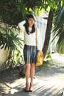 Mustard-miu-miu-bag-ivory-mango-top-turquoise-blue-h-m-skirt