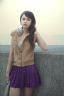 Camel-forever21-vest-deep-purple-forever21-skirt-light-pink-forever21-t-shir