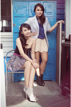 purple Topshop skirt - beige wwwsofabcomph boots - black Topshop bodysuit