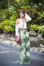 Light-brown-givenchy-bag-light-brown-chanel-belt-green-forever-21-pants