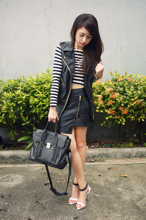 black 31 Phillip Lim bag - white Zara top - black Bershka skirt