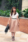 Brown-zara-shoes-dark-brown-marc-jacobs-bag-peach-river-island-skirt