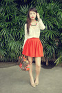Beige-chloe-shoes-brown-louis-vuitton-bag-carrot-orange-fashiondipity-skirt