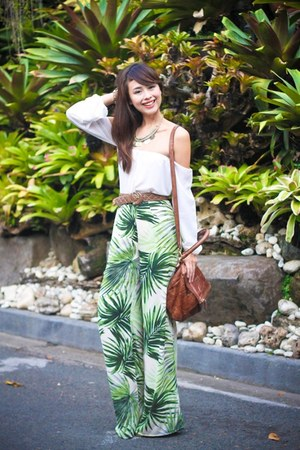 green Forever 21 pants - light brown Givenchy bag - light brown Chanel belt