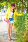 Hot-pink-kenzo-hat-yellow-zara-blazer-pink-prada-bag