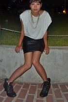 black pill from ramp skirt - black chicasiancouture shoes - white Pink Manila bl