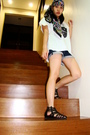 Pink-h-m-scarf-black-divided-for-h-m-shoes-blue-topshop-shorts-white-r