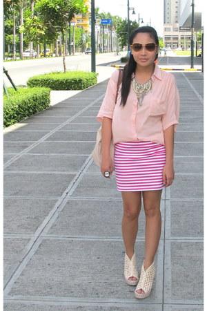light pink from greenhills blouse - hot pink Zara skirt