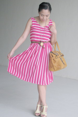 bubble gum from davao dress - mustard Carolina Herrera purse - eggshell Parisian