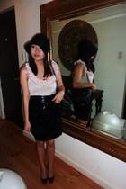 black lucca from ramp skirt - beige Topshop blouse - black Christian Louboutin s