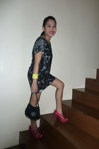 black Zara dress - pink Dorothy Perkins shoes - MNG bracelet