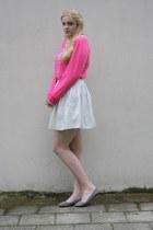 lace collar necklace - skater JC skirt - sweatshirt - zippered Dolcis flats