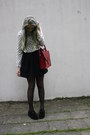 Creeper-shoes-thriftshop-bag-crossed-h-m-blouse-skater-monki-skirt
