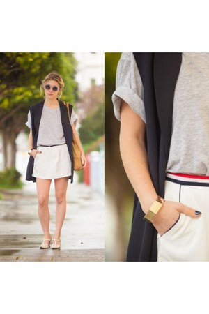 navy oversized vintage vest - burnt orange All Saints bag
