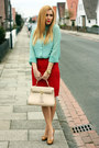 Aquamarine-primark-shirt-cream-aldo-bag-bronze-christian-dior-pumps