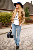navy REPLAY jeans - black Zara shoes