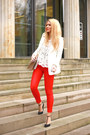 Ruby-red-united-colors-of-benetton-jeans-white-front-row-shop-blazer