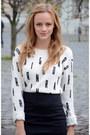 Black-bershka-boots-white-h-m-sweater-black-h-m-skirt