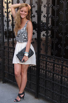aztec print H&M top - Terranova bag - Bershka skirt - Bershka sandals