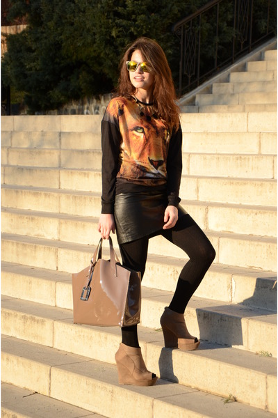 black animal print Atmosphere sweater - black Calzedonia tights