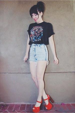 harley davidson vintage shirt - jordache vintage shorts