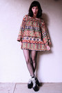 Black-hellbounds-unif-boots-tan-indian-gauze-vintage-dress