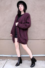 Magenta-mohair-vintage-sweater