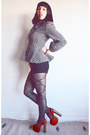 Peplum-vintage-norma-kamali-jacket-houndstooth-american-apparel-shorts