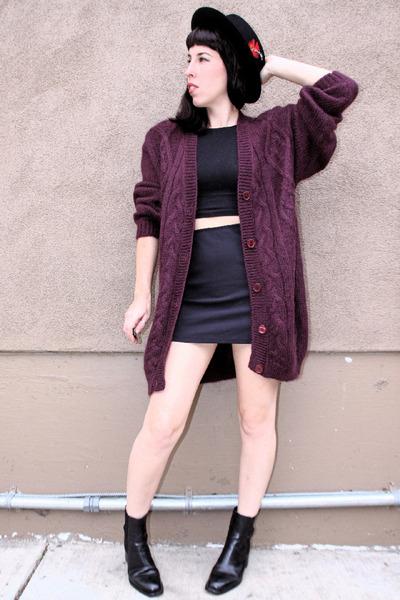 magenta mohair vintage sweater