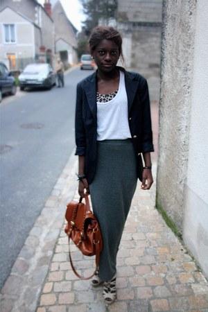 vintage blazer - H&M skirt