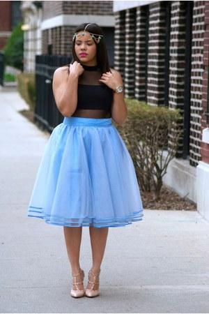 Arden B top - eShakti skirt - Ebay heels