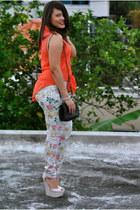Ann Loft Taylor purse - Qupid wedges - Forever 21 top
