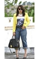 Zara jacket - Levis jeans - Ebay bag