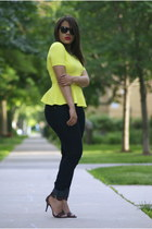 Forever 21 jeans - ray-ban sunglasses - Nine West heels - Forever 21 blouse