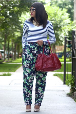 H&M pants - coach bag - Forever 21 heels - h&m divided top