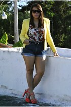 Zara jacket - Levis shorts - f21 top