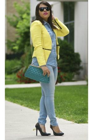Gap jeans - Jcrew shirt - Ray Ban sunglasses - Qupid heels